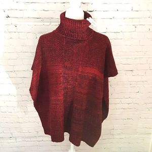 Apt 9 Red, Pull-Over, Turtleneck, Open Sides NWT